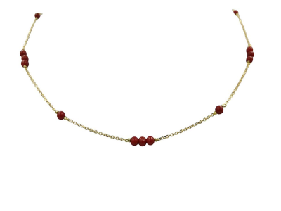 Coral Red Choker