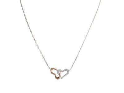 Heart By Heart Diamond Pendant With Gold Necklace