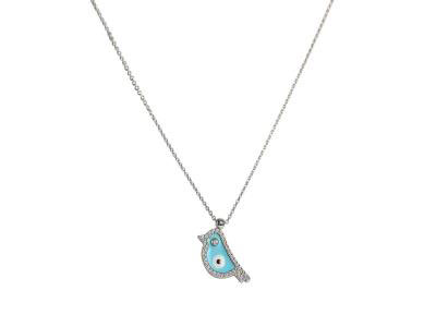 Bird Diamond Pendant With Gold Necklace