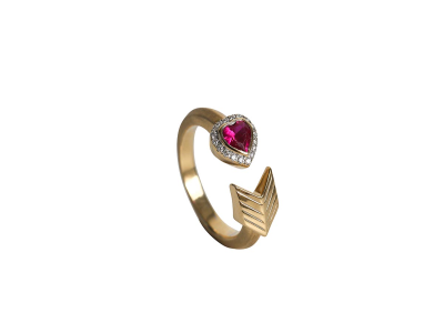 "Diamond And Ruby ""yy Forever And Beyond"" Ring"