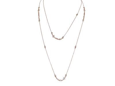 Long Necklace With Geometrical Shapes