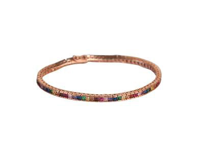 Bracelet With Colorful Baguette
