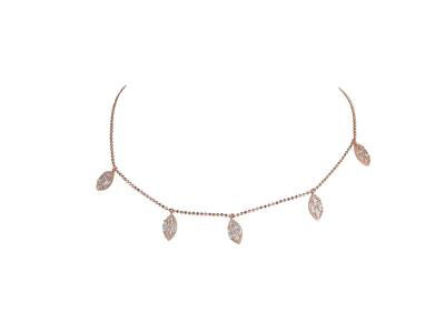 Droplet Choker With White Zircon