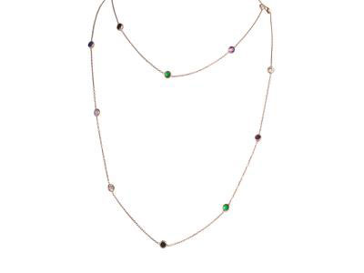 Long Necklace Colorful Stones