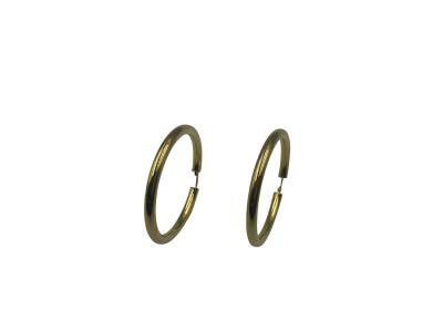 Round Gold Hoops Earrings-Size 4
