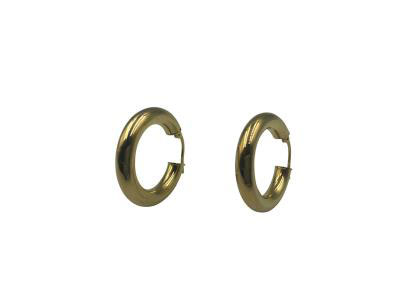 Round Gold Hoops Earrings-Size 3