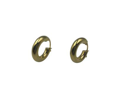 Round Gold Hoops Earrings-Size 2