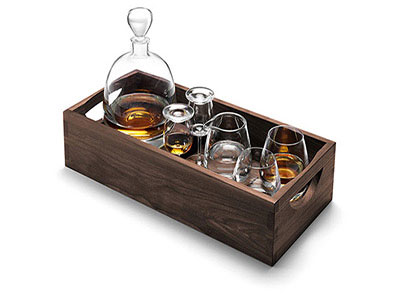 Islay Connoisseur Whisky Set 6pcs In Wooden Box