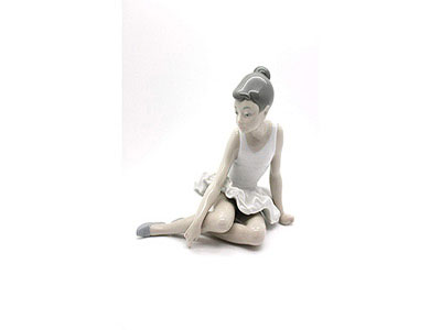 Seated Ballet Porcelain Figurine