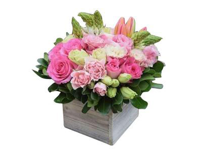 Basket of Pink Flowers