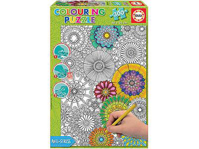 Anti-Stress Colouring Puzzle- Flowers