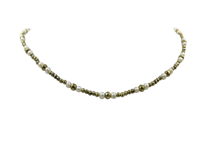 Choker with White pearls & Emathyte