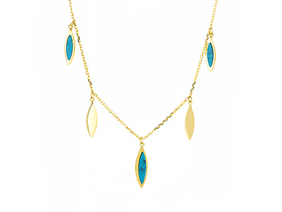 Dangling Marquise Necklace