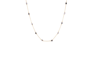 Gold Necklace with Gray Stars