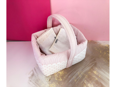 Basket and Towel Bundle- Pink