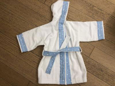 Baby Boy Bathrobe Embroidered with Name (0-3Y)