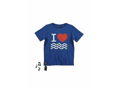 Ocean Blue Tee With Sea Sound