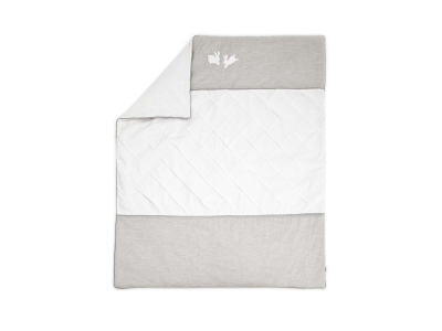 Gray and White Quilt
