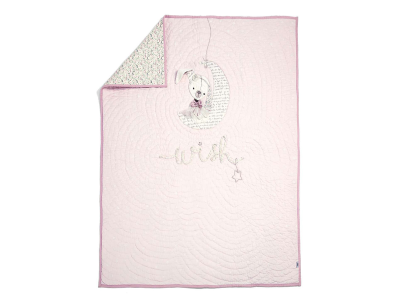 Embroidered Pink Quilt