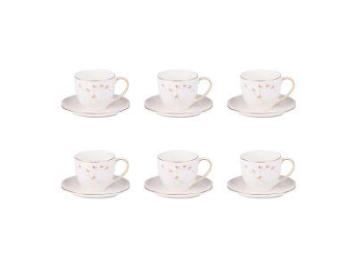 White Mateor Coffee Cups - Set of 6