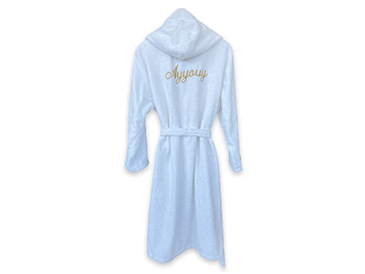 Adult Bathrobe Emboidered with Name